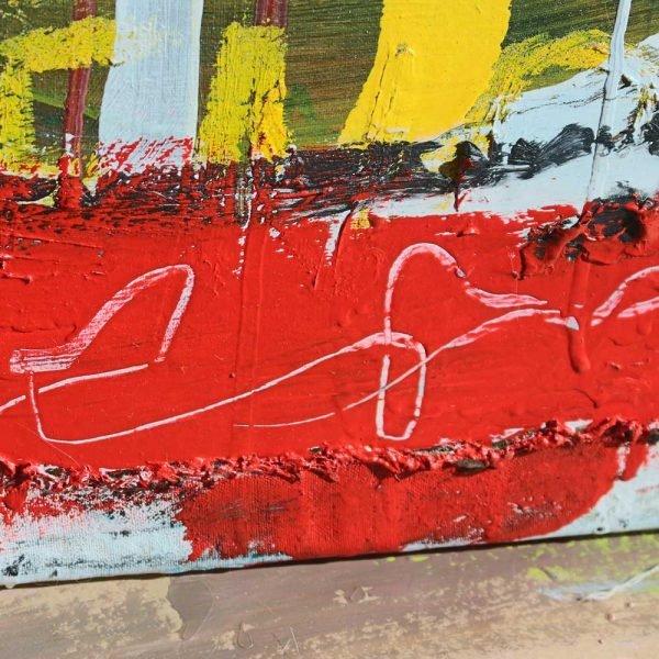"Deep look at a conceptual / minimalist original canvas. ""Headmaster"""