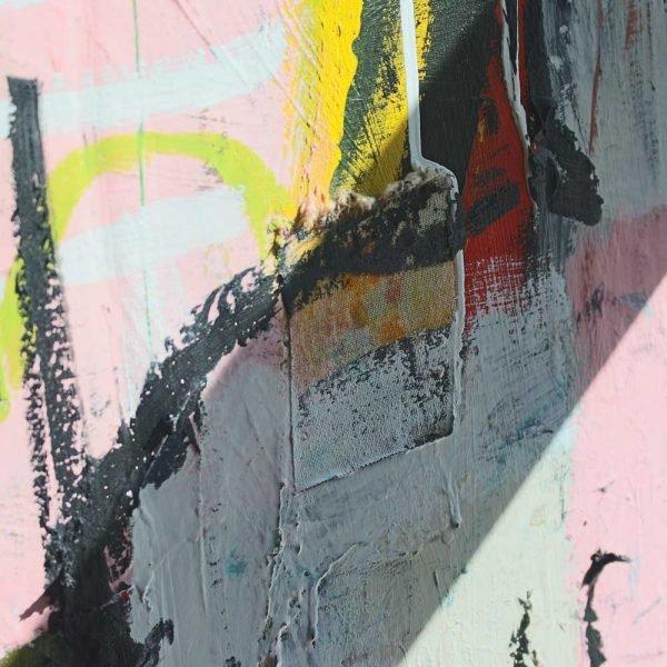 """Details of a Street Art style modern art. """"Headmaster"""""""