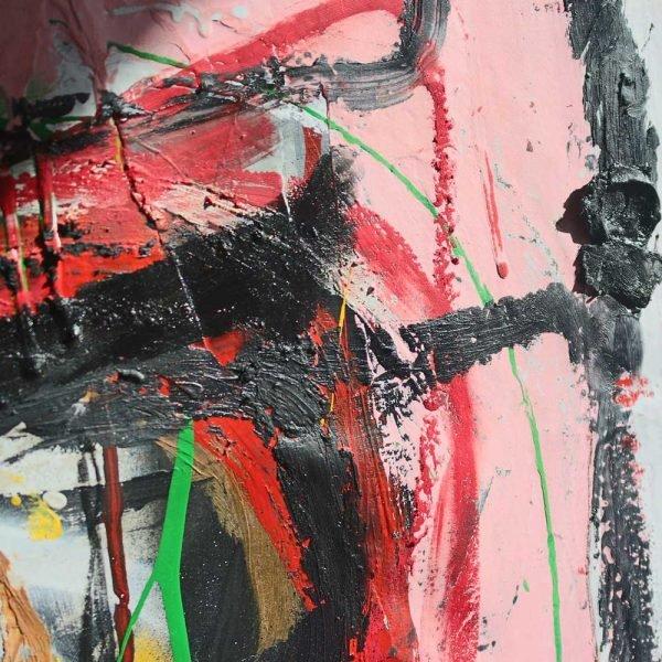 """Closeup of a pop art style modern art painting. """"Headmaster"""""""
