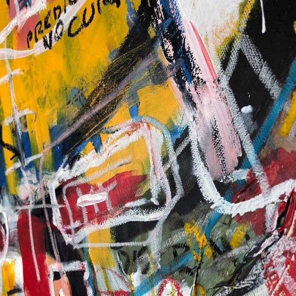 """Details of a Street Art style modern art. """"Delete Zone"""""""