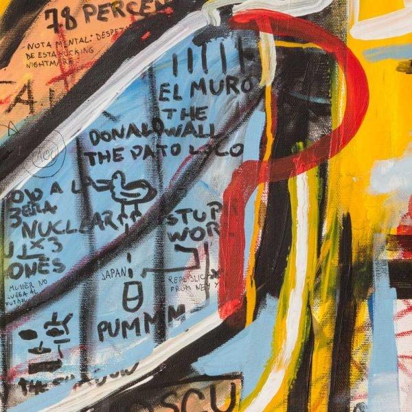 """Details of a Street Art style modern art. """"Donald Trampa"""""""