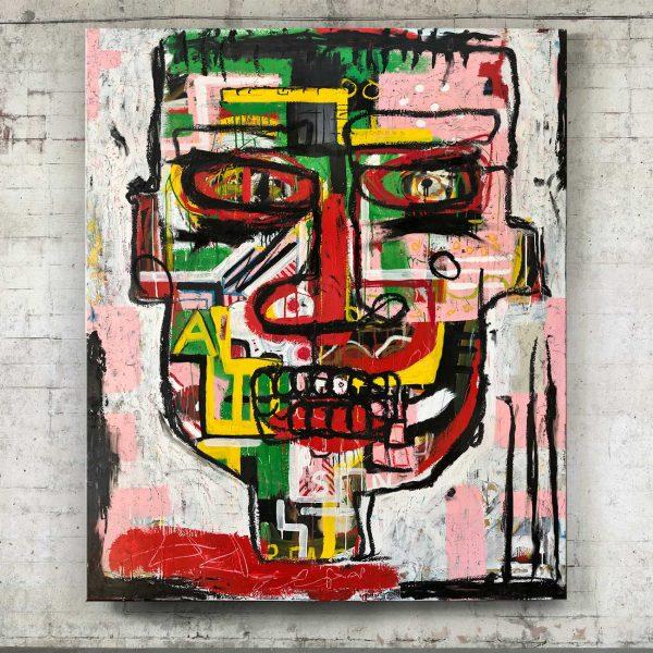 """Imagen completa of the original art on the studio """"Headmaster"""" - Studio View."""