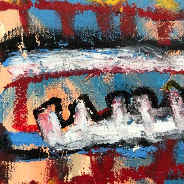 """Details of a Street Art style modern art. """"I'm a Bitcoin"""""""