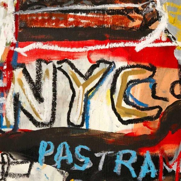 "Detailed image of a Neo-Expressionist modern art. ""Manhattan World"""