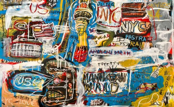 """Manhattan World"" Neo Expressionist wall art for sale"