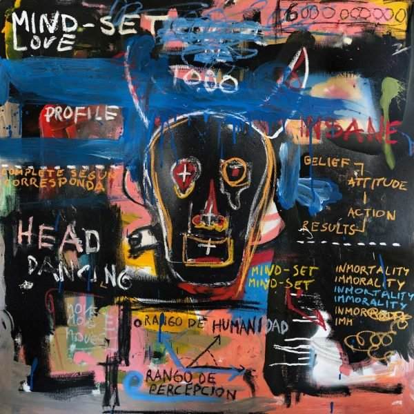 """Mind Set"" Neo Expressionist wall art for sale"