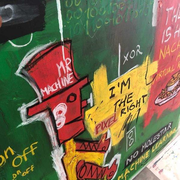 """Deep look into a Pop Art artwork. """"Mr. Machine"""""""
