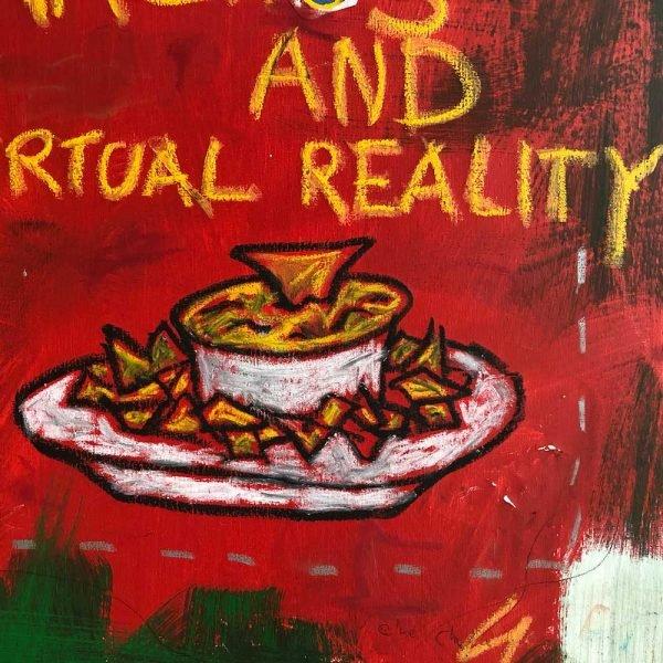 "Close Ups of a beautiful street art painting. ""Mr. Machine"""