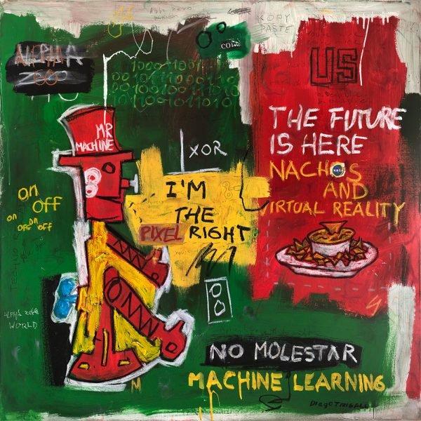 """Mr. Machine"" modern artwork for sale"