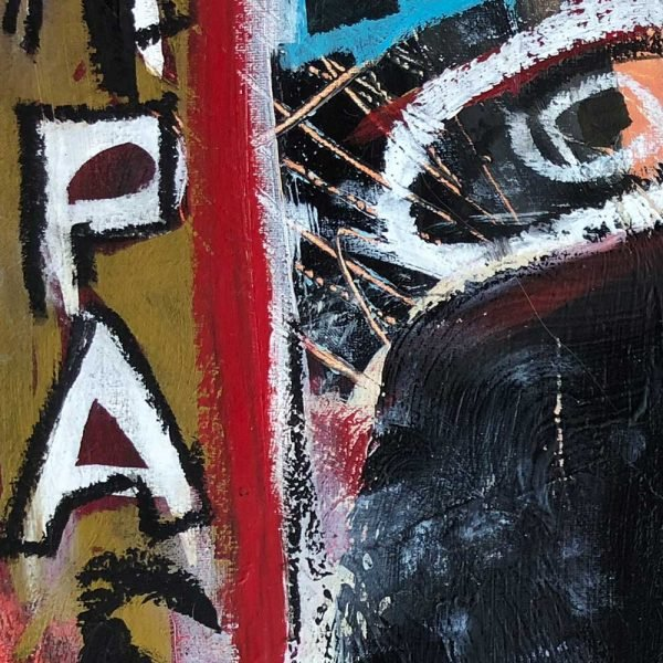 "Close Ups of a Street Art inspired modern painting. ""Papa"""
