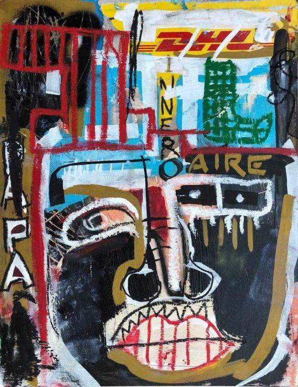 """Papa"" modern artwork for sale"