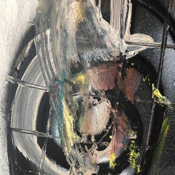 """Details of a Street Art style modern art. """"Portrait of a Conscious Man"""""""