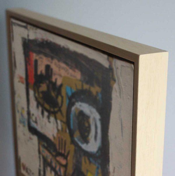 """Deep look at a conceptual / minimalist original canvas. """"Salud para todos, perdón y fuerza Painting"""""""