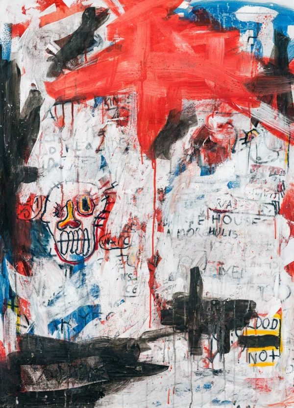 """Snow Face"" modern artwork for sale"