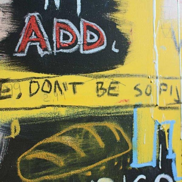 "Close Ups of a beautiful street art painting. ""Success Story"""