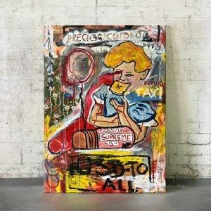 "Imagen completa of the original artwork for sale online, ""Precios Cuidados"""