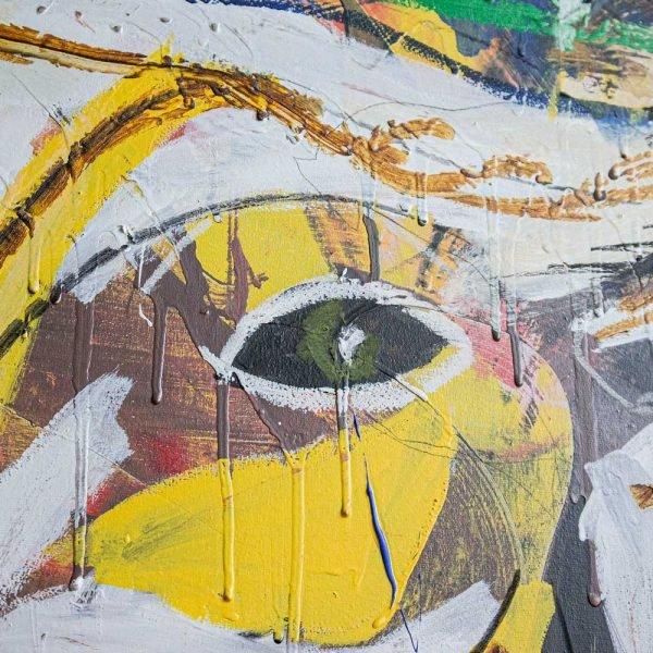 "Close Ups of a beautiful street art painting. ""Verdadera Carne de Buey"""