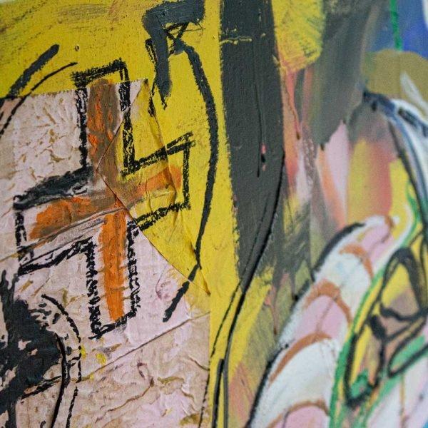 "Deep look at a contemporary wall art. ""Verdadera Carne de Buey"""