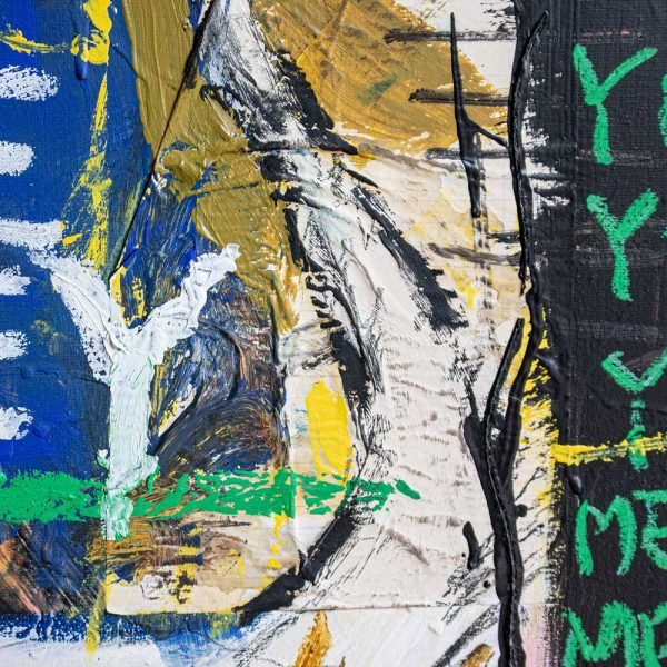 "Closeup of a Neo-Expressionist and Street Art creation. ""Verdadera Carne de Buey"""