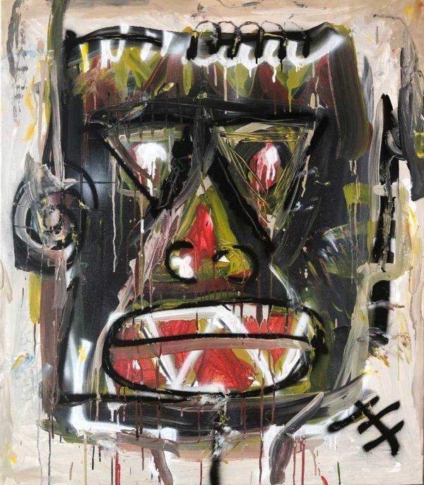 """Portrait of a Conscious Man"" contemporary art for sale"