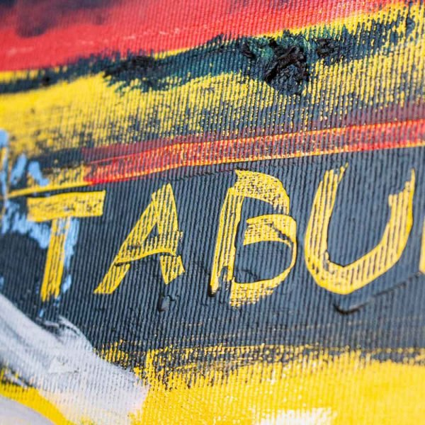 "Close Ups of a Street Art inspired modern painting. ""Tabula Rasa"""