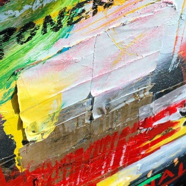 """Deep look into a Pop Art mixed media artwork. """"Hope"""""""