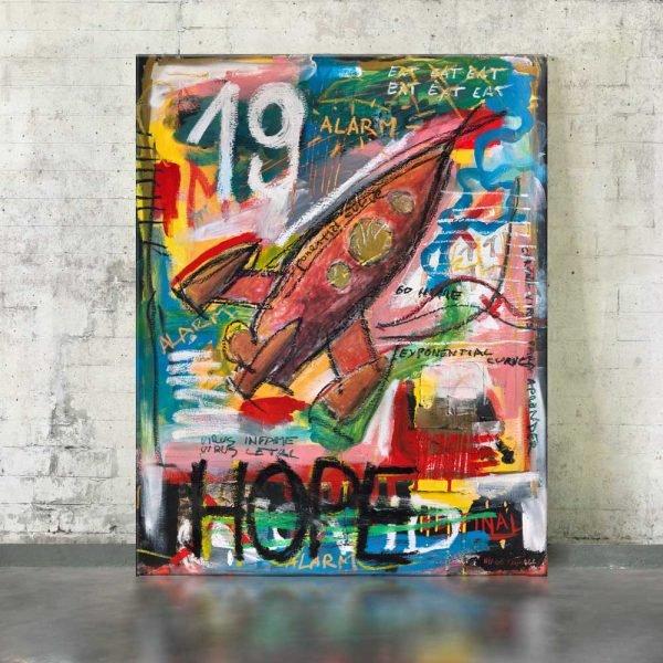"""Imagen completa of the art for sale online """"Hope"""" - Studio View."""