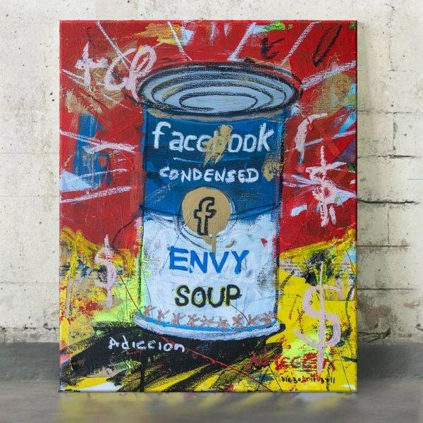 "Imagen completa of the original art on the studio ""Envy Soup Preserves"" - Studio View. - Facebook"
