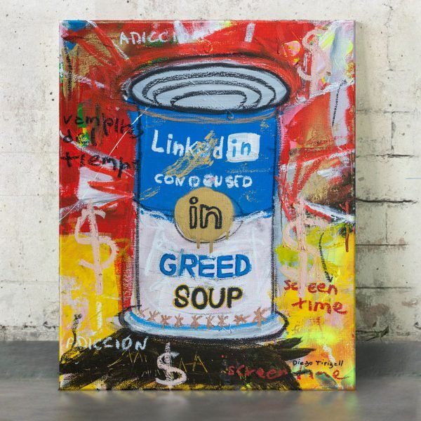 "Imagen completa of the art for sale online ""Greed Soup Preserves"" - Studio View."