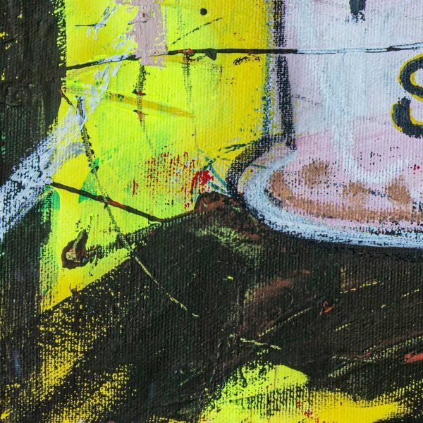 "Close Up of a Basquiat style painting. ""Pride Soup Preserves"" - Tik Tok"