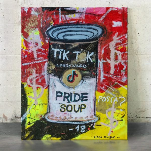 "Imagen completa of the original art on the studio ""Pride Soup Preserves"" - Studio View - Tik Tok"