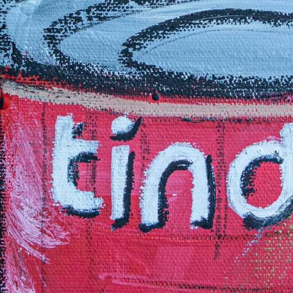 """Extremely detailed close-up an art painting wall art. """"Lust Soup Preserves"""" - Tinder"""