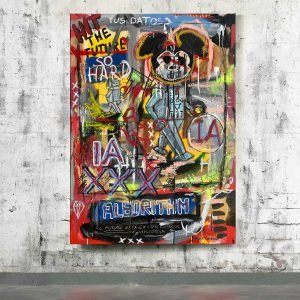 Artificial Intelligence is a piece of mixed media art in Basquiat Style by Diego Tirigall
