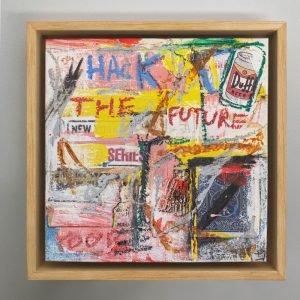"Imagen completa of the original artwork for sale online ""Entertain Me"" - Studio View."