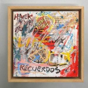 """Imagen completa of the original art on the studio """"Memories"""" - Studio View."""