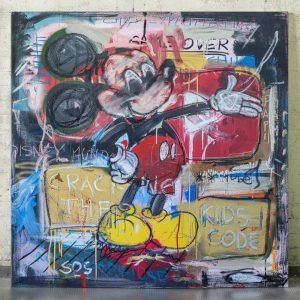 Imagen completa of the original artwork for sale online Cracking The Kids Code, - Studio View.