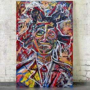 """""""Basquiat Portrait"""" Neo Expressionist wall art for sale"""